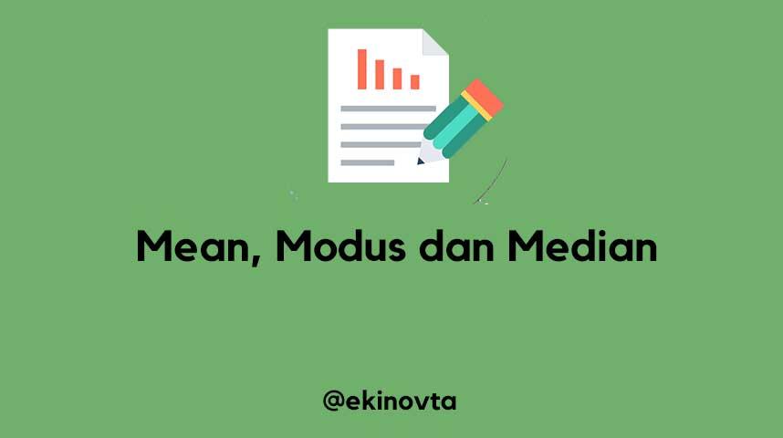contoh soal hubungan mean median modus